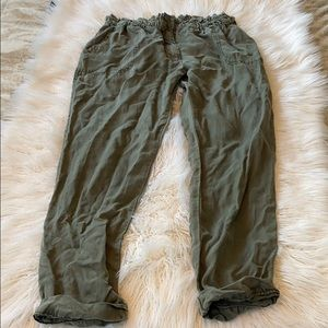 Abercrombie & Fitch Green Joggers